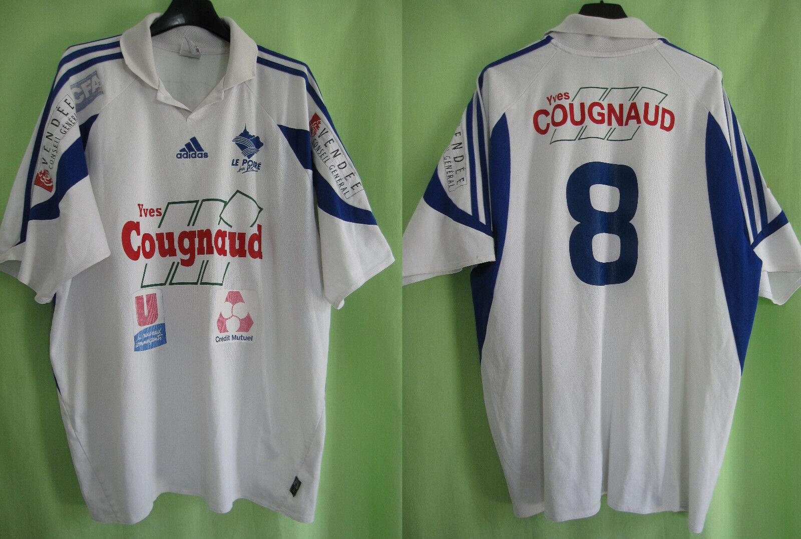 Maillot le poiré sur vie CFA2 Adidas Shirt Football Porté Vintage Jersey - XL