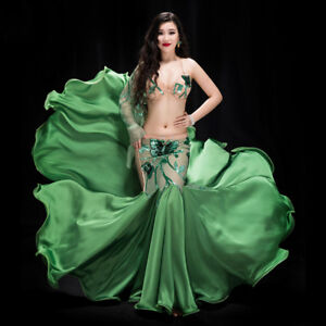 Image is loading New-Women-2018-Professional-Belly-Dance-Costumes- Performance- 80ae3213e5af