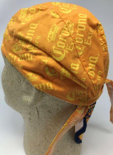 Yellow Blue Corona Embroidered Beer Logo Crown Doo Du Rag Headwrap Skull Cap