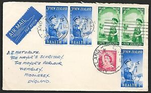 New Zealand covers 1958 SCOUTING Airmailcover Auckland to Wembley