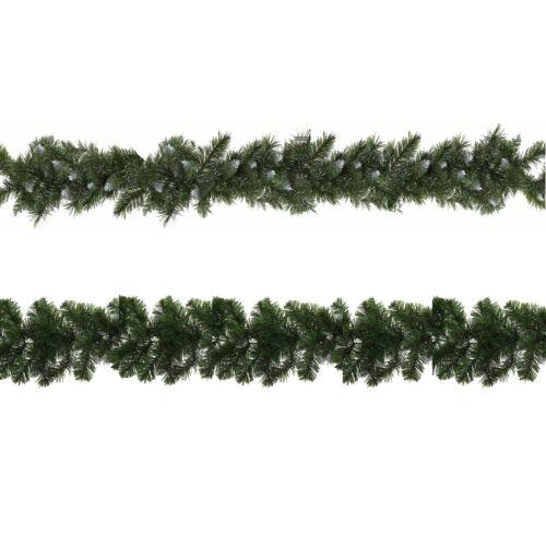 Décoration de noël artificiel 9ft guirlandes de 180 tips-snowy ou plain