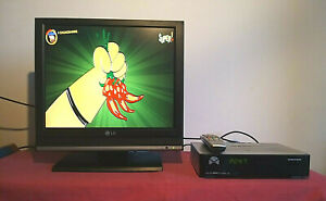 LG 17LS5R TV LCD 17 pollici+Decoder UNITED Tivùsat DV3 Lettore Schede+Cavo Scart