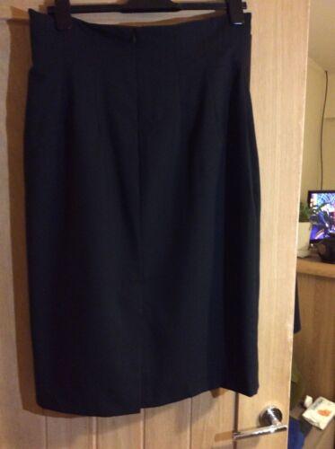 Gonna 100 in al posteriore lana di al pura 100 a abbigliamento lana lavoro da fodera tubino lavorata PRqxPrwF