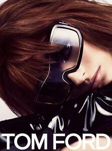 bc52f5a6d4ed8 Tom Ford TF 305 Olga 01B Black Grey Shield FT0305 S Sunglasses ...