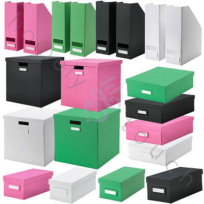 New Selection Of Ikea Tjena Storage Boxes With Lid Magazines Photos Office Home