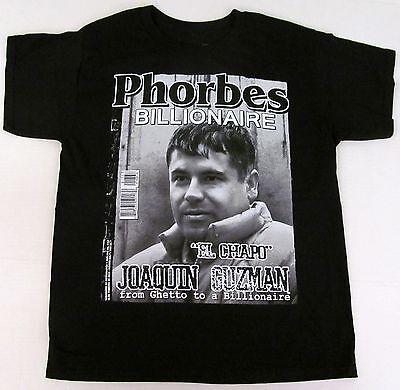 STREETWISE BILLIONAIRE T-shirt Drug Lord El Chapo Guzman Phorbes Tee L-5XL NWT