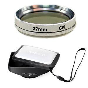 37mm-16-9-Wide-Hood-CPL-Filter-for-Sony-Handycam-DCR-SR200-SR300-TRV460-TRV480