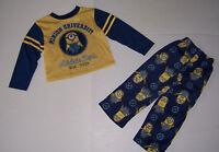 Dispicable Me Minion University Boy's 2 Piece Pajamas Pjs Set Size 4/5