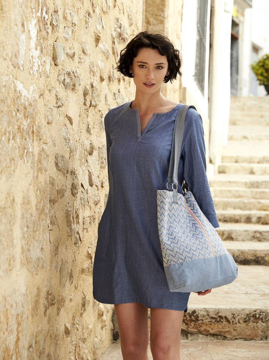 BNWT NOMADS HANDLOOM TUNIC DRESS Ethical Fair Trade Cotton SS18 RRP