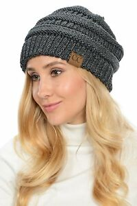 06786972222 Image is loading WarmSoft-Stretch-Chunky-Cable-Knit-Slouchy-Beanie-Oversized -