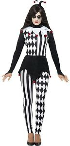 Ladies-Jester-Harlequin-Carnival-Halloween-Fancy-Dress-Costume-Outfit-UK-8-18