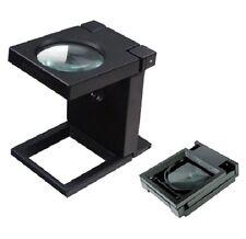 "3X Magnifier Magnifying Glass Power Folding LED Light 2"" Lens Desk Top Loupe"