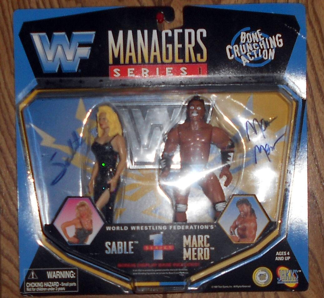 WWF Sable & Marc Mero Jakks Managers Wrestling Figure MOC - Signed By Both  WWE