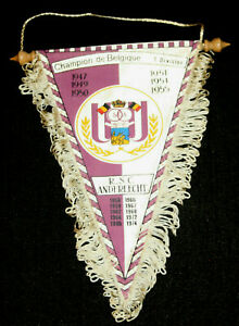 Football-Pennant-wimpel-fanion-Royal-Sporting-Club-Anderlecht-champion-Belgique