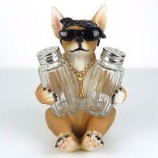 "Salt & Pepper Shaker Chihuahua Dog Lil' Spice Figurine Miniature 6.75""H New"
