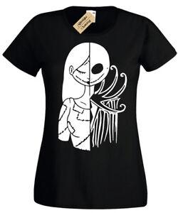 Demi-Jack-moitie-Sally-T-Shirt-Noel-Femme-cauchemar-Femmes-Top-Cadeau