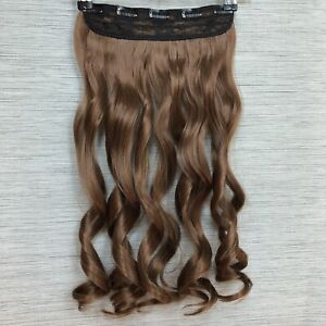 20-034-Clip-In-like-human-Curly-Hair-Extensions-3-4-Full-Head-One-Piece-LightBrown