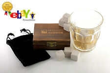 PREMIUM Kentucky Stoned 9 Piece 100% Soapstone Whiskey Stones Gift Set with Box