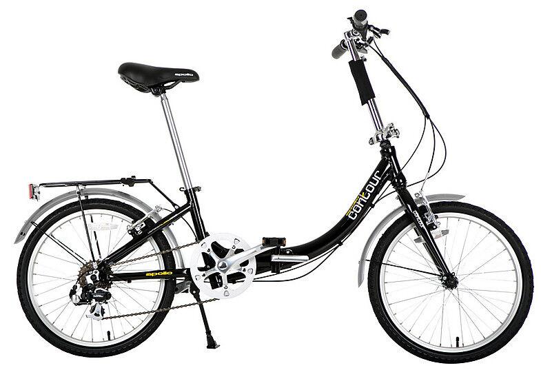 Apollo Contour Folding Bike Bicycle 7 Speed Shimano 20  Inch Wheels V-Brakes