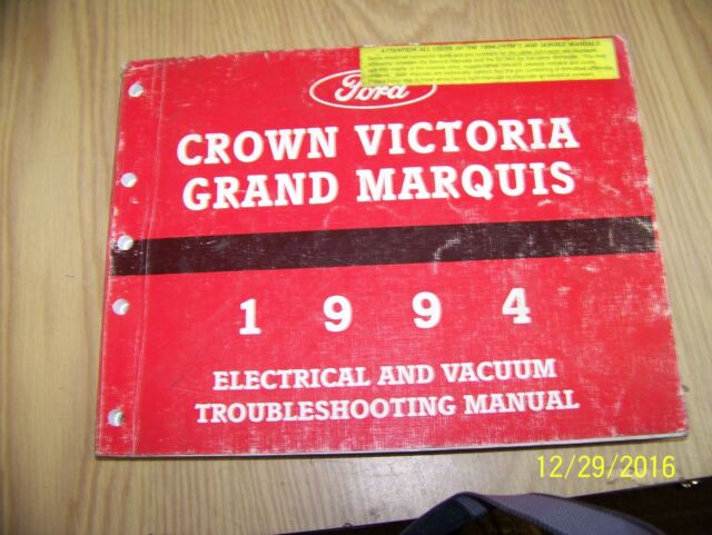1994 Ltd Crown Victoria Grand Marquis Electrical Wiring