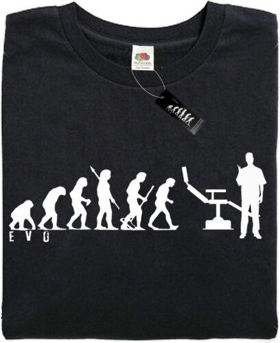Mans Evolution T-Shirt® Brand new ape great present. - Black DENTIST