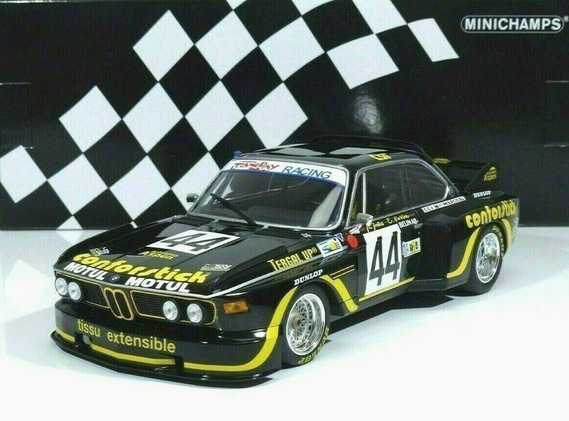 BMW 3.5 CSL ASPM  44 Tanday Music Justice, Bélin  24 H LeMans 1976 1 18 Minichamps  marque de luxe
