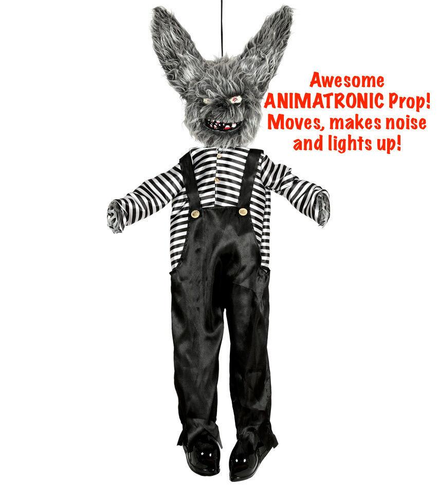 Luxus Luxus Luxus Animatronic Bewegen Halloween Tolle Terror Kaninchen Party Dekoration 22042d