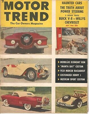 1953 motor trend july manta ray buick aero willys chevrolet revue valley custom ebay ebay