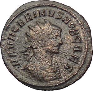 Carinus-283AD-Silvered-Ancient-Roman-Coin-Simpulum-jug-lituus-i29673