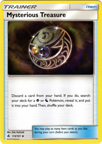 Pokemon MYSTERIOUS TREASURE 113//131 UNCOMMON  NM CARD  FORBIDDEN LIGHT