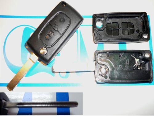Guscio cover scocca chiave telecomando PEUGEOT 307 308 207 2 tasti portabatteria