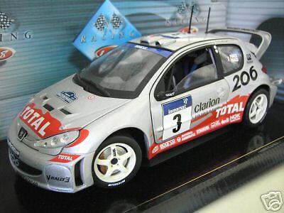 PEUGEOT 206 WRC RALLYE CORSE 2002 PANIZZI 1 18 SOLIDO 202 991.05 voiture miniatu