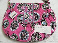 Vera Bradley Cupcakes Pink Saddle Up Shoulder Crossbody Handbag Hipster Bag
