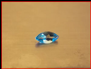 .60 carat Blue Topaz Gemstone loose gem from gold jewelry 8x4 mm Marquise