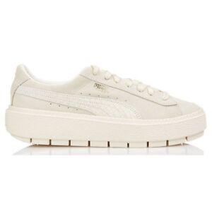 Details zu Puma Suede Platform Trace Animal Schuhe Weiß Damen