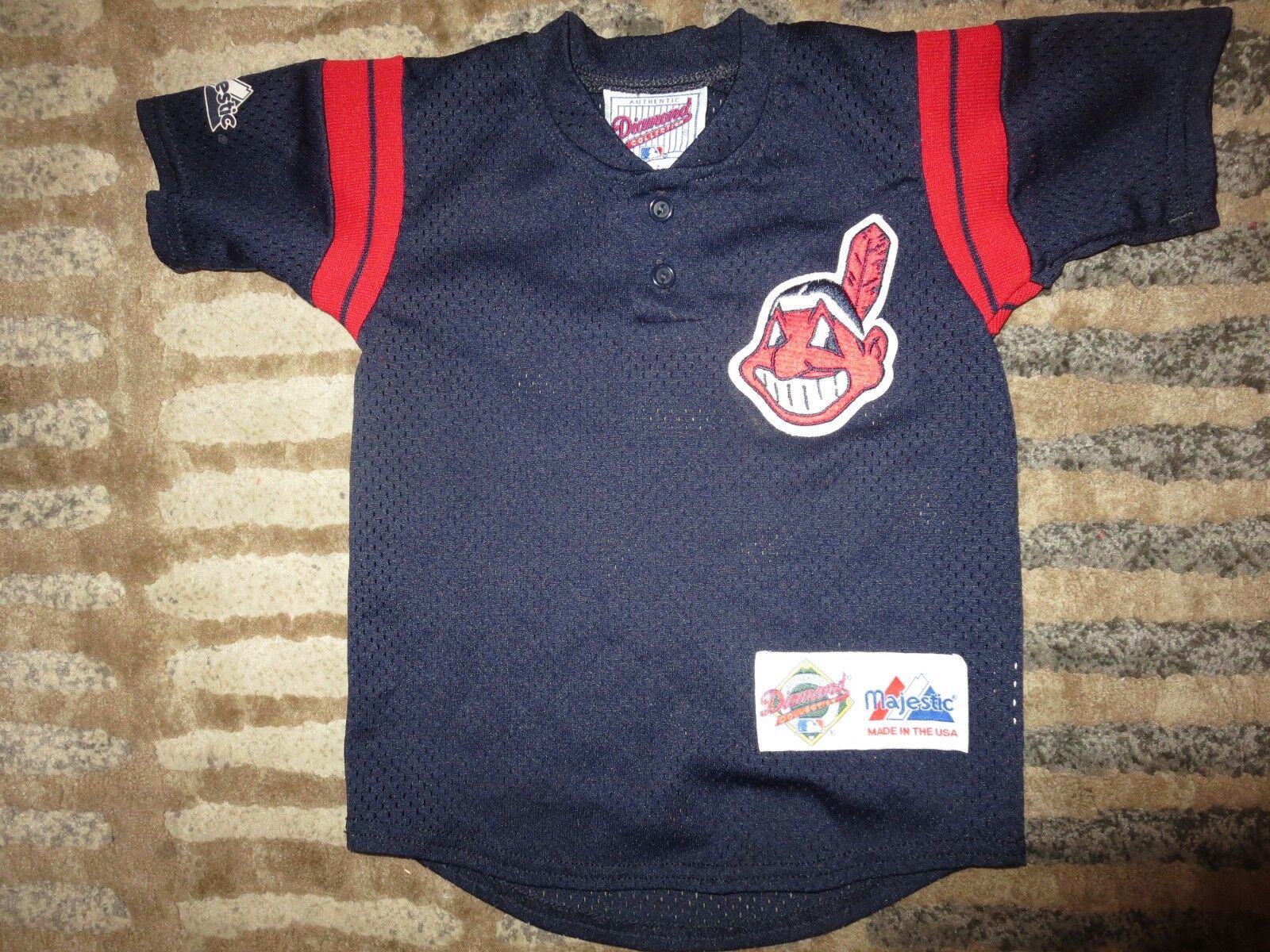 Cleveland Indians Baseball MLB Baseball Indians Chief Wahoo majestic Jersey Toddler 2T fb17b2