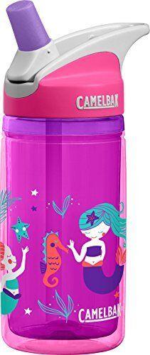 Camelbak Kids Eddy Isoliert Water Bottle, Pink Mermaids, 400 ml