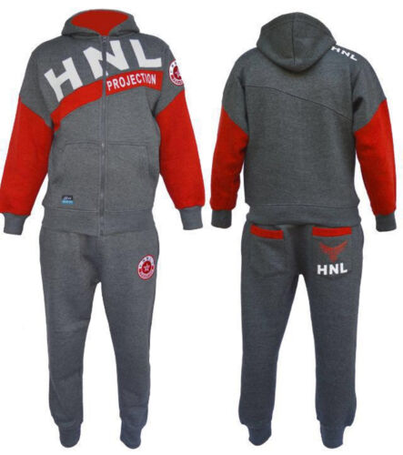 Junior Boys Tracksuit Fleece Jogging Suit Zipper Jumper Hoodies Kids by HNL