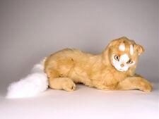 Lifelike Turkish Van Cat by Piutre, Made in Italy, Plush Stuffed Animal NWT