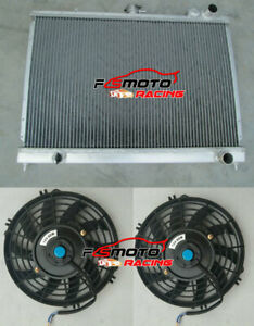 50mm-Aluminum-Radiator-FANS-for-Nissan-Pintara-Skyline-R31-1986-1993-Manual-MT