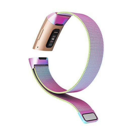 Metal Bracelet Strap For Fitbit Charge 3//4 Stainless Steel Milanese Loop Band