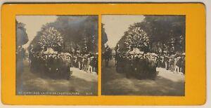 París 1900 La Fiesta De Horticultura Francia Foto Estéreo Vintage Analógica