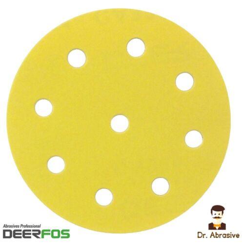 environ 12.70 cm 125 mm ponçage disque 5 in Orbital Papier de verre Pads deerfos pour Festool Grit 40-400