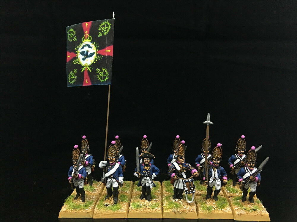 28mm Seven Years War DPS Painted Prussian Grenadier Advancing GH929