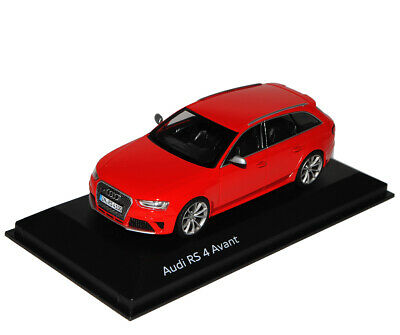 Audi A4 RS4 B8 Avant Misano Rot Ab 2012 1//43 Minichamps Modell Auto mit oder ohn