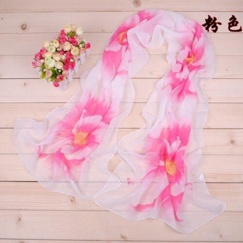 160 50cm Flowers Floral Fashion Ladies Scarves Chiffon Scarf Womens Shawls X044