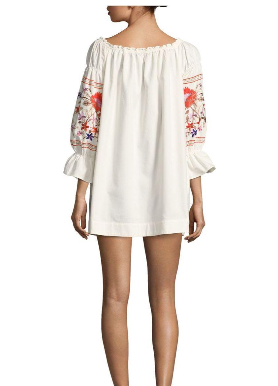 e82cc51b4d23 ... Free People Fleur Du Jour Cotton Shift Dress XS XS XS S M L IVORY  embroidery 1ba038 ...