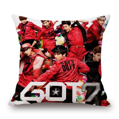 Home Pillow Case K-Pop GOT7 Pillowcase Bedroom Cushion Cover Sofa Cushion Cover