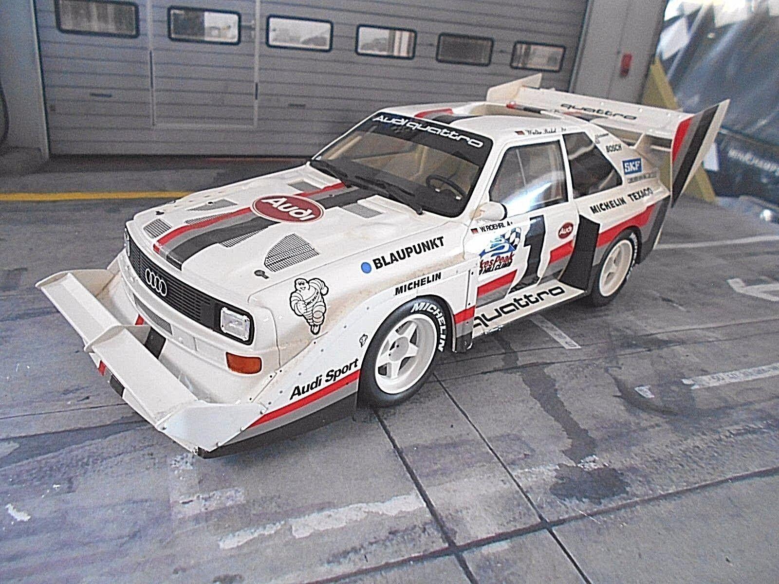 AUDI s1 quattro e2 Vincitore Rally Pikes Peak WIN 1987 Röhrl  1 otto RAR TOP 1 18