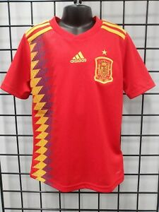 esposa Digno Illinois  adidas 2018 WORLD CUP SPAIN YOUTH HOME JERSEY (BR2713) SIZE YXL | eBay